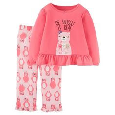 Girls' 2pc Long Sleeve Poly PJ Multi Pink - Just One You™Made by Carter's®
