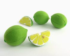 This listing includes 1 toy Lime whole or slice I suggest you to buy realistic stuffed toys, made of felt for your little ones. For playing the Garden Harvest Kitchen Shop etc. ————————————————————— ♥ unique design, are just like real ♥ small (3 in) and light (0,3 oz) ♥ safe for your