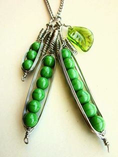Peas in a Pod necklace $22 — gifts for sisters, BFFs