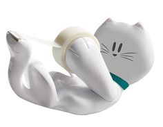 arOU0032 Porta Washi Tape Gatinho   Porta washi tape gatinho. Inclui um durex transparente. Tamanho aproximado 15cm x 9cm x 4cm Este produto você encontra nas lojas Bala Mental,entre em contato conosco em nossa fan page: