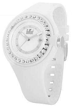 Da cor total à ausência de cor : o Branco esta em alta ! No verão ele fica mais evidente e pode ser usado como coringa para qualquer look . Relógios Dumont - modelo SW45024