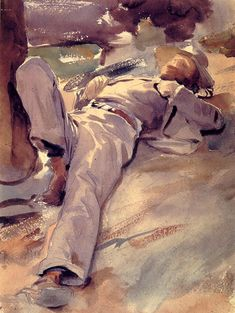 "John Singer Sargent ""Pater Harrison"" (or ""Siesta"")"