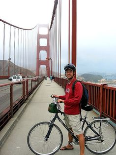 Take a bike ride over the bridge and into lovely Sausalito!