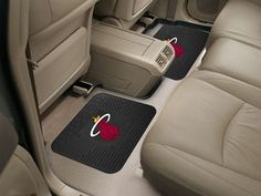 The Miami Heat Automotive Rear Seat Utility Car Floor Mats