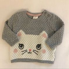 Shop Kids' H&M Gray Silver size Sweaters at a discounted price at Poshmark. Description: Laundered and never worn. Knitting For Kids, Baby Knitting Patterns, Hand Knitting, Filet Crochet Charts, Knitted Baby Clothes, Knit Vest, Kids Shop, Sweaters, Things To Sell