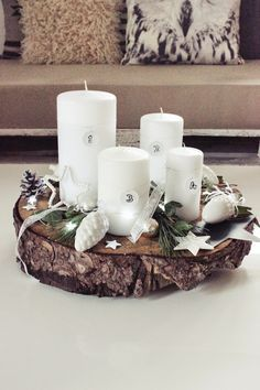 DIY advent wreath - simple but beautiful /// simpler Adventskranz zum Selbstmachen - einfach aber wunderschön