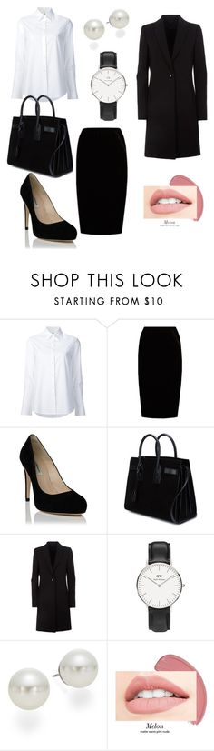 """""""Classic"""" by tancho-cts on Polyvore featuring мода, Misha Nonoo, Jupe By Jackie, Yves Saint Laurent, Daniel Wellington и AK Anne Klein"""