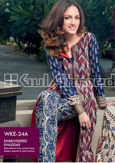 Gul Ahmed - Stitched Winter Collection 2015