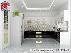 Thiết kế tủ bếp phong cách hiện đại, ấn tượng TB43