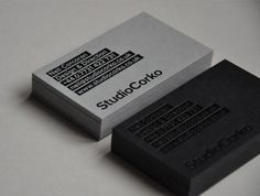 Black gloss foil onto 540gsm colorplan business cards