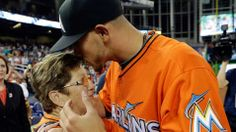 Jose Fernandez's grandmother sees him pitch for the first time with Miami Marlins