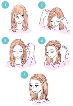 Over 20 simple tutorials for DIY hairstyles in 3 minutes www. - Over 20 simple tutorials for DIY hairstyles in 3 minutes www. Cute Simple Hairstyles, Daily Hairstyles, Fast Hairstyles, Fringe Hairstyles, Hairstyles With Bangs, Trendy Hairstyles, Hairstyle Ideas, Hairstyles For Short Hair Easy, Wedding Hairstyles