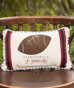 Look at this South Carolina Gamecocks Pillow on #zulily today!