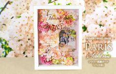 感謝ボード「パリス桜(花アレンジ)」/結婚式両親へのプレゼント   http://www.farbeco.jp/