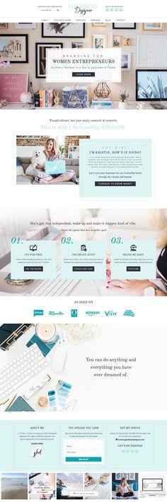 Girlboss Designer Website - Branding and Web Design for Women Entrepreneurs. Wordpress theme by Lovely Confetti. Feminine wordpress theme.  #goaldigger #fea #turquoise #pastel #branding #logodesign #designer #website #webdesign #wordpress