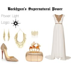 EXO Baekhyun Supernatural Power Inspired Outfit by nanrelladu on Polyvore featuring polyvore fashion style Marchesa Christian Louboutin Alexander McQueen Oasis