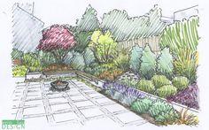 Bildresultat för garden design drawing