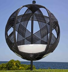 The Sphere Swing for outdoor spaces from Neoteric Luxury.  Pretty cool hey?