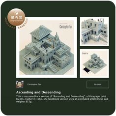"""My creation won an """"Award of Excellence"""" in the nanoblock Award 2014-2015 No Limit Category  ..."""