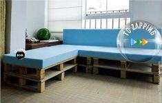 bauen sie ein schlafsofa futon mit holzpaletten diy pinterest holzpaletten schlafsofa. Black Bedroom Furniture Sets. Home Design Ideas