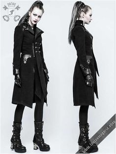 Y-791 Duel coat by PunkRave   Gothic, Steampunk, Metal, Punk, Lolita, Fetish fashion style e-shop. Punk Rave, RQ-BL, Fantasmagoria clothing brands