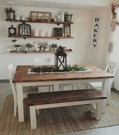 Popular Farmhouse Wall Decor Design Ideas for Dining Room ✓ - Farmhouse furnishings is a wonderful means to carry a welcoming contact to your residence. room wall decor ideas Popular Farmhouse Wall Decor Design Ideas for Dining Room ✓ Farmhouse Dining Room Table, Dining Room Wall Decor, Farmhouse Kitchen Decor, Decor Room, Dining Room Design, Home Decor, Modern Farmhouse, Farmhouse Ideas, Dinning Room Ideas