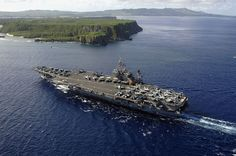 Above the USS Kitty Hawk by US Navy, via Flickr