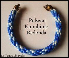 Pulsera Kumihimo redonda. www.facebook.com/latiendadepezke
