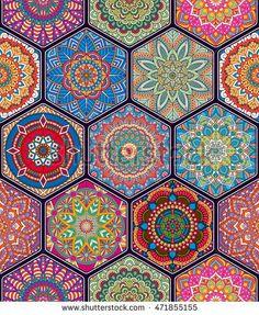 Tile Patterns, Pattern Art, Textures Patterns, Buddha Kunst, Buddha Art, Art Chinois, Tile Wallpaper, Arabic Pattern, Cottage Art