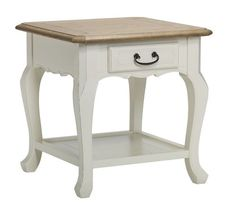 Buy now the beautifully hand-crafted Chateau End Table - A/Cream by design studio Bella House. High quality furniture at an affordable price.