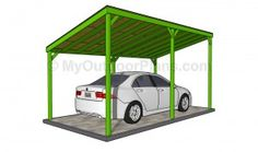 Step by step woodworking project about carport plans free. If you want to protect your car from bad weather, choose proper carport building plans for your needs. Wood Carport Kits, Lean To Carport, Carport Plans, Double Carport, Pergola Carport, Garage Plans, Shed Plans, Carport Ideas, Pergola Plans