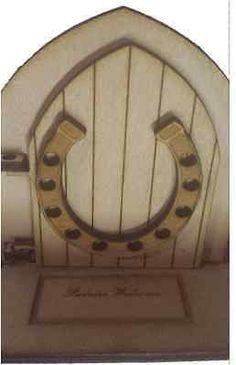 Opening Fairy Door Wooden engraved Fairy Lucky Horse Shoe Fairies Welcome Mat Opening Fairy Doors, Elf Door, Skirting Boards, Welcome Mats, Fairies, Home And Garden, Horse, Collection, Home Decor