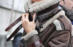 Burberry Shearling Bomber Jacket