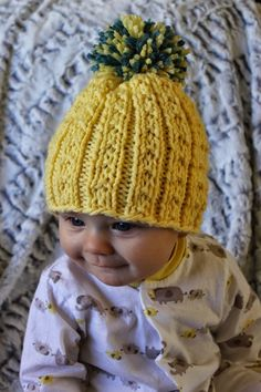 Kid's Banana Beanie. Free pattern.