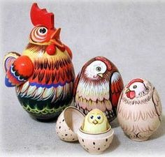 chicken nesting dolls