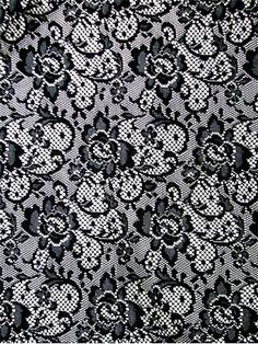 """1608 Black Lace -  Floral crochet lace for party dress of party decoration. All over patter. 60"""" wide"""