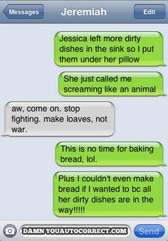 funny auto-correct texts - Classic DYAC: Peaceful Resolutions.  Hahahahahahahahaha