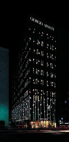 Armani Ginza Tower / Doriana e Massimiliano Fuksas Architectural design… Retail Architecture, Modern Architecture Design, Facade Architecture, Amazing Architecture, Architectural Lighting Design, Landscape Lighting Design, Landscape Concept, House Landscape, Retail Facade