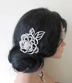 Openwork vintage rose bridal hair comb CA055 vintage hair combs, £24.99