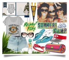"""""""Summer Camp"""" by jeneric2015 ❤ liked on Polyvore featuring Dot & Bo, The North Face, New Era, T By Alexander Wang, Gucci, Charlotte Russe, Bling Jewelry, summercamp and 60secondstyle"""