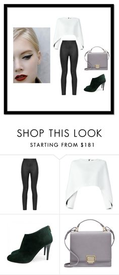 """""""modern new look"""" by insoninees ❤ liked on Polyvore featuring Armani Jeans, Balmain, Jimmy Choo, Smythson and modern"""