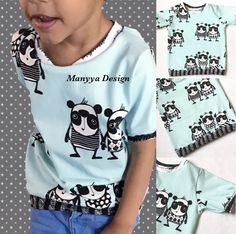 A personal favorite from my Etsy shop https://www.etsy.com/listing/510360865/babytoddler-boy-shirt-panda-soft-blue