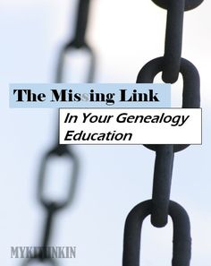 My Kith N Kin: Attention Genealogists: You Might be Missing Out. This missing link will make all the difference in your genealogy education.