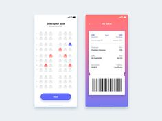 Bus seat reservation app - Daily UI Challenge designed by Christian Vizcarra. Connect with them on Dribbble; the global community for designers and creative professionals. Flat Web Design, App Ui Design, Interface Design, Site Design, Design Design, Design Patterns, Branding Design, Bus App, Web Design Mobile