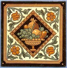 Minton Tiles from Tile Heaven Antique Pottery, Antique Art, Minton Tiles, Peacock Quilt, Victorian Pictures, Picture Tiles, Tiles For Sale, Mosaic Tiles, Art Tiles
