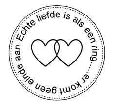 """Echte liefde is als een ring...er komt geen einde aan.."""" Circle of love""""...L.Loe"""
