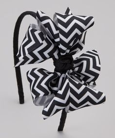 Take a look at this Black Zigzag Bow Headband by Picture Perfect Hair Bows on #zulily today!