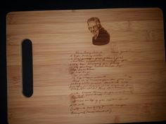 Custom cutting board for Molly from 3DCarving on Etsy