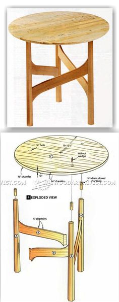 Elegant Accent Table Plans - Furniture Plans and Projects | WoodArchivist.com