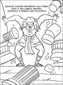 Samson coloring pages Sunday School Projects, Sunday School Activities, Sunday School Lessons, Preschool Bible, Bible Activities, Bible Story Crafts, Bible Stories, Bible Coloring Pages, Coloring Books
